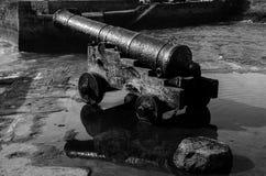 Porthleven Cannon stock photo