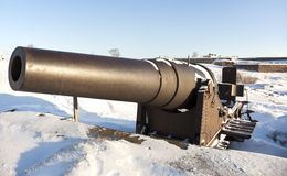 Cannon protecting Suomenlinna Sea Fortress Stock Images