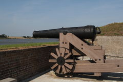 Cannon on ramparts Royalty Free Stock Photo