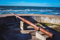 Cannon remains royalty free stock image