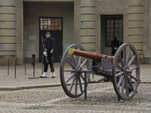 The cannon in Royal Palace. Stockholm. Sweden.  Royalty Free Stock Photography