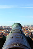 Cannon at the Saint George Castle, Lisbon, Portugal Stock Photos