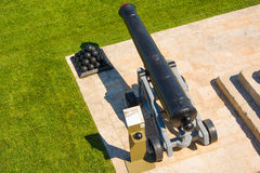 Cannon in saluting battery. Valletta, Malta Stock Photography