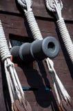 Cannon of the Santa Maria, Columbus ship Stock Photos