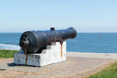 Cannon at sea Royalty Free Stock Image
