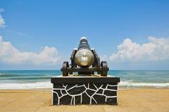 Cannon on the seaside promenade Stock Photo