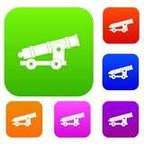 Cannon set color collection Royalty Free Stock Photo