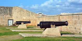 Cannon of Siege of Acre. ACRE ISRAEL 01 11 16: Cannon of Siege of Acre of 1799 was an unsuccessful French siege of the Ottoman city of Acre and turning point of Royalty Free Stock Photography