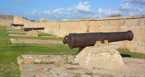 Cannon of Siege of Acre. ACRE ISRAEL 01 11 16: Cannon of Siege of Acre of 1799 was an unsuccessful French siege of the Ottoman city of Acre and turning point of Stock Image