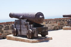 Cannon in Sohail Castle, Fuengirola, Spain Stock Images