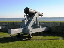 Cannon standing guard. Stock Photos