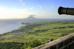 Cannon Station 2 Brimstone Hill fortress. Cannon station found at Brimstone Hill in St. Kitts Royalty Free Stock Photo