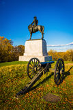 Cannon and statue in Gettysburg, Pennsylvania. Royalty Free Stock Photo