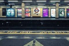 Cannon Street underground station. LONDON, UK - APRIL 13, 2015: View of Cannon Street underground station in London Royalty Free Stock Photography
