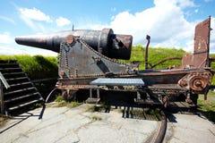 Cannon in Suomenlinna fortress Stock Image