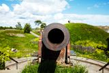 Cannon in Suomenlinna fortress Stock Images