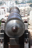 Cannon to city Royalty Free Stock Images