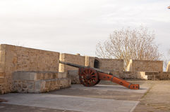 Cannon in the turret Stock Image