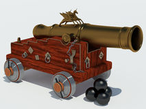 Cannon unicorn with carriage Stock Images