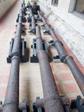 Cannon. The unused cannon in the Thai national museum Royalty Free Stock Images