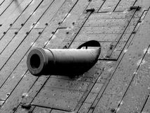 Cannon of USS Cairo. An image of a cannon of the ironclad USS Cairo gunboat in the Vicksburg National Military Park Stock Photo