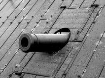 Cannon of USS Cairo stock photo