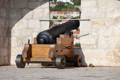 Cannon on the Wall Royalty Free Stock Images