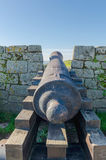 Cannon in a wall Royalty Free Stock Photography