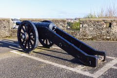 Cannon on the walls of Derry Stock Photos