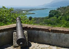 Cannon on the walls of the fortress Royalty Free Stock Photo