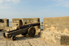 Cannon on walls Royalty Free Stock Image