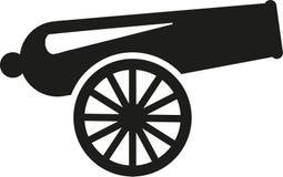 Cannon war. Weapon gun stock illustration