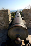 Cannon weapon in ibiza Royalty Free Stock Photos