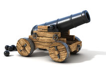 Cannon on a white background. 3d cannon on a white background Royalty Free Stock Photography
