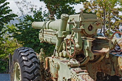 Cannon of world war II Royalty Free Stock Photos