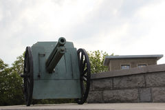 Cannon from the World War II Stock Photography