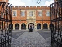 Cannon yard at Eton School. Eton, UK -25 March 2015: Cannon Yard opposite the library at the historic Eton Public School Stock Photo