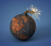 Cannonball as the Earth Royalty Free Stock Images