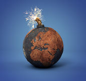 Cannonball as the Earth Royalty Free Stock Photo