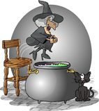Cannonball Witch stock illustration