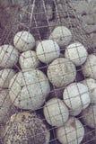 Cannonballs στο φρούριο Στοκ φωτογραφία με δικαίωμα ελεύθερης χρήσης
