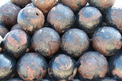 Cannonballs stock photos