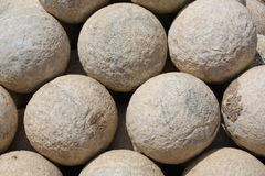 Cannonballs royalty free stock photography