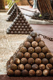 Cannonballs in the Prince Palace of Monaco Stock Photography