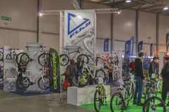 Cannondale and Fuji boothes at Bike trade show Stock Images