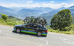 Cannondale-Garmin队-环法自行车赛技术汽车2015年 免版税库存图片