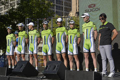 Cannondale Professional Cycling Team Royalty Free Stock Photography