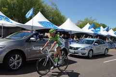 Cannondale Rider 2013 Amgen Tour of CA Stock Image
