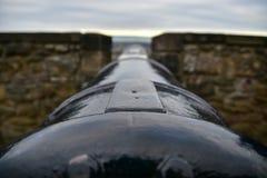 Cannone ad Argyle Battery, castello di Edimburgo Immagini Stock Libere da Diritti