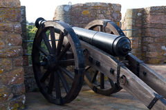 Cannone al castello in Gorey, Jersey, Regno Unito di Mont Orgueil Immagine Stock